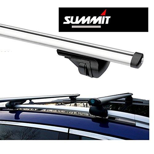 Summit Barras de aluminio con cierre para techo de coche