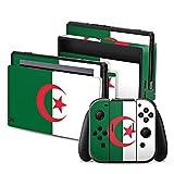 DeinDesign Nintendo Switch Folie Skin Sticker aus Vinyl-Folie Aufkleber Algerien Flagge Fußball