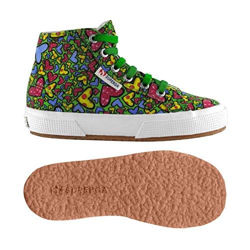 Chaussures Le Superga - 2795-fabricheartsj - Enfants GREEN-HEARTSMULTICOL