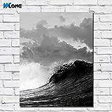 wojinbao Pas de Cadre Impression Grand Format Huile sur Toile Ocean Waves Art Mural Impression sur Toile pour Le Salon et la Chambre d 50x70cm