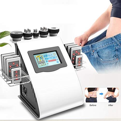Qinlorgo Gewichtsverlust Maschine Professionelle 40 Karat Cellulite Fett Entfernen Gerät Körperformung Massagegerät Gesichtshautlifting Schönheit Maschine(EU-Stecker)