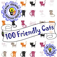 Dr CleverTM Reward Stickers | Friendly Cats | Reward Merit | Teacher Parent Award Praise | Cute Stickers | Party Favours