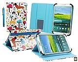 Emartbuy Konrow K-Tab 702X 7 Pouce Tablette Multicolore Chiots Angle Multi Folio Exécutif Etui Coque Portefeuille Wallet Avec des Fentes de Cartes + Stylet