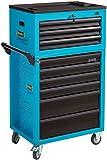 HAZET Werkstattwagen Assistent (Montagewagen, mit Aufsatzkoffer, insgesamt 7 flache Schubladen und 2 hohe Schubladen, mit zweistufigem Verriegelungssystem) 177-9