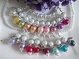 Galerie-of-art4you DIY- Sets 20 + 1 Perlenengel Schutzengel Glücksengel als Gastgeschenk für Hochzeit Taufe Kommunion Kindergeburtstag