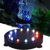 Berrose 1PC 12LED Aquarium LED Unterwasser die Glühbirne Sauerstoffpumpe Tauch Bubble Light Air Stein