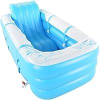 LJF bain gonflable Baignoire gonflable épaissie Baignoire pliante chaude adulte Baignoire double en plastique