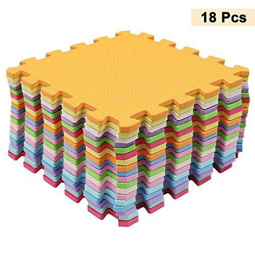 Alfombra Infantil Puzzle para Niños (18 Pcs) 26 x 26 cm -...