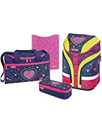 Herlitz Set de sacs scolaires, Hearts (Multicolore) - 50013678