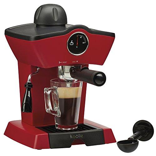, Koölle 5 Bar Espresso Coffee Maker Machine – Make Espressos, Lattes, Cappuccinos & More! – 2 Year Warranty (Red), Best Coffee Maker, Best Coffee Maker