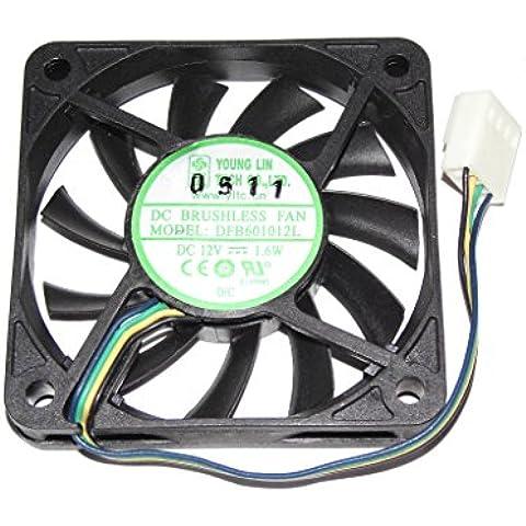 Jóvenes de lino 60* 60* 10mm dfb601012l 12V 1,6W 4alambre 6cm ventilador de refrigeración