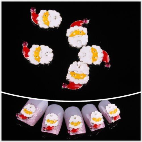 Nails gaga Alloy Nail Art /Glitters Rhinestones Tips / Diy Nail Decoration 10pcs / N1094 by Nails gaga