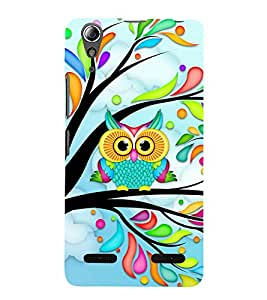 Colourful owl Back Case Cover for Lenovo A6000 Plus
