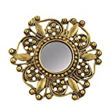 #8: Zephyrr Fashion Adjustable Round Ring with Carved Design Mirror For Girls and Women
