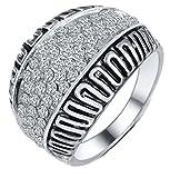 SaySure - Vintage Style Zircon Ring retro antique (SIZE : 6)