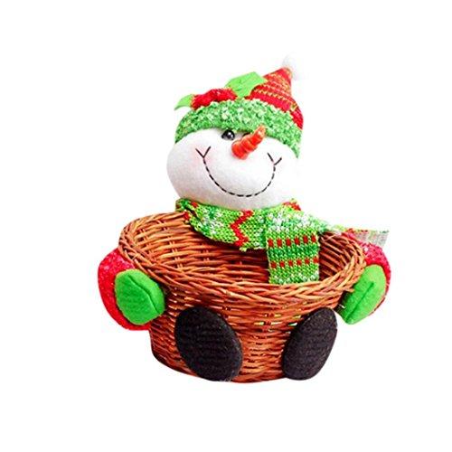 LHWY Weihnachts Süßigkeiten Ablagekorb Dekoration Weihnachtsmann Geschenk für Kind (10 x 10 cm, (Kinder Outfit Dr)