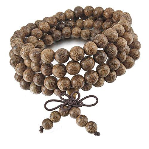 Holz Perlen Kette | Perfektes Accessoire für den Sommer | Perlen Holzkette | Holzperlen Armband | Elastische Kette | Natürlicher Schmuck | Schmuck für Sie und Ihn