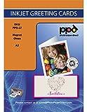 Photo paper direct magnétique format a5-papier d'impression brillant pour cartes avec enveloppe - 40 feuilles