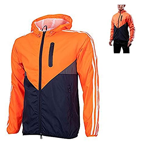 UrChoiceLtd® Hot LIEXING Men Clothes Windbreaker Waterproof Warm / Windproof Outdoor Sports Hiking Climbing Skiing Cycling Jacket Coat with M-3XL (Orange Black,