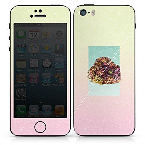Apple iPhone SE Case Skin Sticker aus Vinyl-Folie Aufkleber Mineral Love Stein Hipster DesignSkins® glänzend