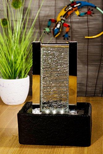 Köhko® Zimmerbrunnen Cha Cha 25001 Dekobrunnen Tischbrunnen mit LED-Beleuchtung
