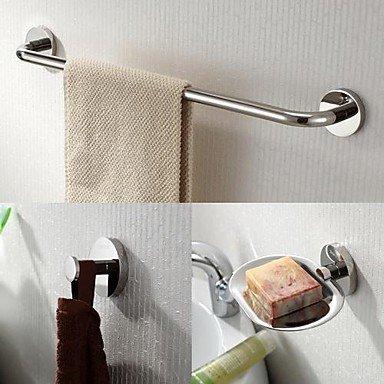 HJ in acciaio inox 3 pezzi accessori bagno set bar