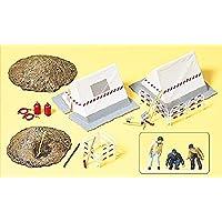 Preiser 17179 H0 Fernmeldearbeiter, Bauzelte, Absperrungen Und Zubehör