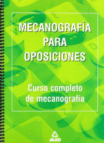 Mecanografía para oposiciones por Ed. MAD
