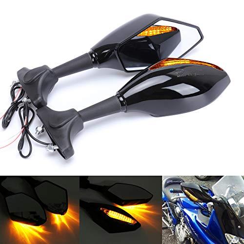 Taben Motorrad LED Blinker integrierter Blinker Rückfahrkamera Spiegel für Racing Bike Sport Bike (Blinker Auto Spiegel)