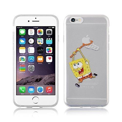 jammylizard-cover-custodia-in-silicone-trasparente-con-sketch-per-iphone-6-e-6s-sponge-bob