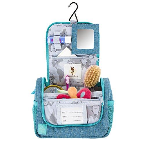 L/ässig Mini Washbag About Friends M/élange Blue 1204003424