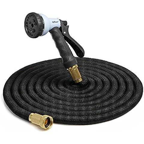 [ Conectores Resistentes de Metal ] KooPower Manguera Jardín Expandible Flexible 5 a 15 M con Pistola Rociadora de Agua