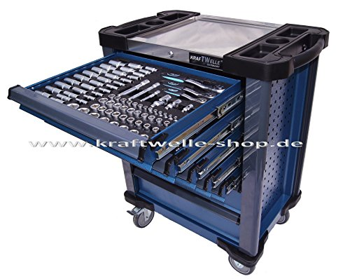 Werkstattwagen Werkzeugwagen Werkzeugkiste gefüllt mit Werkzeug