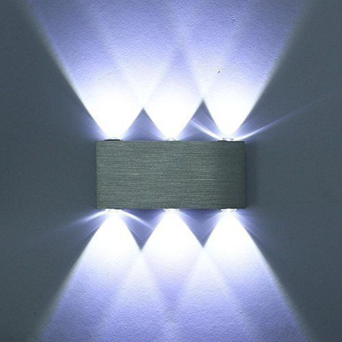 Moderne der Aluminium 6 LED-Wandleuchten Wandleuchten Up Down das weiße Licht der Kältetechnik für Flur Lounge des Schlafzimmer Badezimmer stock Kinder Zimmer