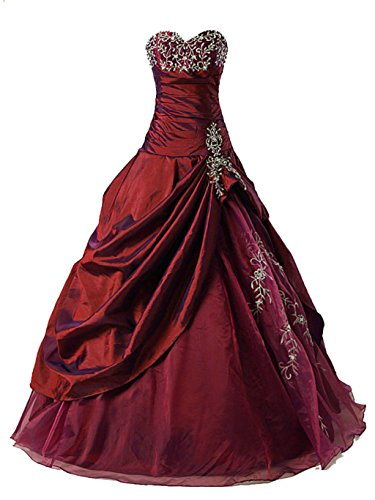 Vantexi Frauen Formellen Abschlussball Abend Kleid Ballkleid Prom Kleider Burgund Größe 60