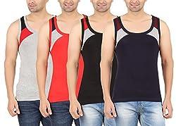 Zippy Mens SINGLE RIB Multi color Sleeveless Gym vest-ZI-VENTOMLRDBLNY_07 (Medium)