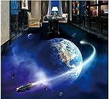 Malilove 3d-PVC Bodenbeläge Custom Photo Wasserdichter Boden wand Aufkleber bild Universum, Erde, Milchstraße Malerei 3d Wandbilder Tapeten