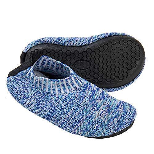 Ksnnrsng Toddler Slipper Socks with Rubber Sole Non-Slip Knit Lightweight House Slippers for Boys Girls