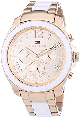 Tommy Hilfiger 1781393 - Reloj de cuarzo para mujer, con correa de diversos materiales, color oro rosa