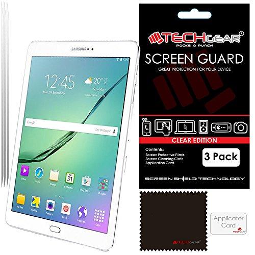 Lcd-samsung S2 Galaxy (TECHGEAR®LCD-Display-Schutzfolien für 9,7 Zoll Samsung Galaxy Tab S2 (SM-T810 / SM-T815), ultraklar, inkl. Reinigungstuch und Aufziehhilfe), 3 Stück)