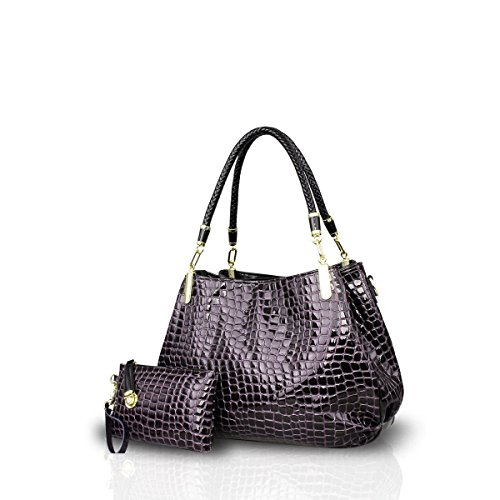 Bilis, Borsa a mano donna large, Navy Blue (blu navy) - Bilis-687 Deep Purple