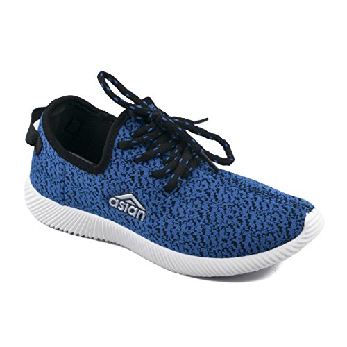 Asian shoes Face-01 Blue Women Canvas Shoes