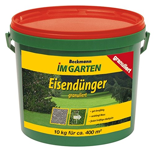Eisendünger 10 kg granuliert Rasendünger Dünger Moosverdränger für ca. 400 m²