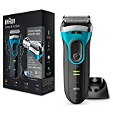 Braun Series 3 ProSkin 3080s Wet and Dry Electric Shaver for Men/Rechargeable Electric Razor, Blue