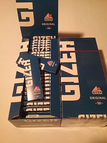 2x standard carta scatola 50Libretti di Cartine Gizeh Blu Original 70mm 21gr/m....