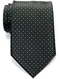Retreez Pin Dots Woven Microfiber Men's Tie Necktie - Various Colors