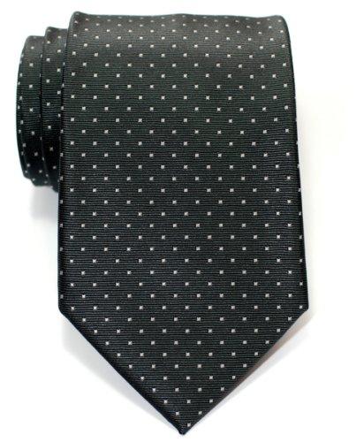 Retreez Cravate Tissée À pois à épingles pour homme - Bleu marin et Bleu cla