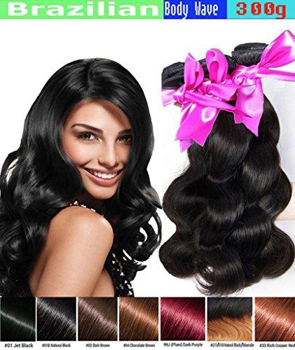 eCowboy Haarverlängerung, Weave Hair Extensions 16''16''18'', , Vibrant Auburn #33