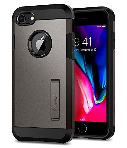 Spigen [Tough Armor 2] iPhone 8/7 Hülle (054CS22214) Stoßabweisende Doppelte Schutzschicht Handyhülle für Extrem Fallschutz Schutzhülle Case (Gunmetal)