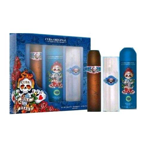 Parfum de France - Coffret pour Homme Cuba Wild Heart - Eau de Toilette Vaporisateur 100 ml + Déodorant + Body Spray 200 ml + Aftershave 100 ml
